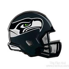 Seattle Seahawks Coll Ed HELMET Raised Color Chrome Metal Auto Emblem Football