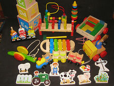 Waldorf Montessori Wooden Baby Toy Lot  Huge Developmental  Baby Toy Lot  #2