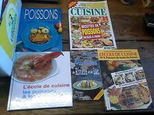 Lot de 5 livres et revues cuisiner les poissons les poissons et les crustacés ..