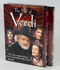 The Life of Verdi (2003) 4 DVD Set Extended Version of 1982 TV Mini Series