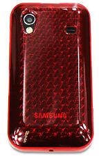 Nuevo Diseño Samsung Galaxy Ace S5830 diamante caso de gel de silicona-Rojo