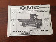 PUBBLICITA' RITAGLIO 1919 - G.M.C. - RIMORCHI TRATTORI AGRICOLI