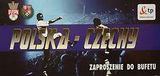 VIP TICKET Bufetu 11.10.2008 Polska Polen - Tschechien Czech Republic