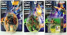 ALIENS Alien Queen, Scorpion Alien & LT Ripley action figures. 1992. Kenner. MOC