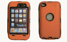 Best Protection Case / Cover for iPOD TOUCH 4 ORANGE / BLACK Free Stylus!!!