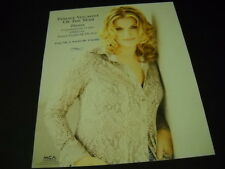TRISHA YEARWOOD Female Vocalist Of The Year 1997 PROMO POSTER AD mint condition