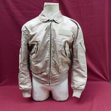 USAF CWU-36/P NOMEX FLIGHT JACKET LARGE FIRE RESISTANT ARAMID DESERT TAN