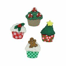 Jesse James Buttons ~ Dress It Up~ Christmas Cupcakes 7474 ~ Sewing ~ Scrapbook