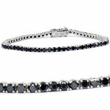 "3ct Irradiated Black Diamond Tennis Bracelet in 14K Gold Over Size-7"" FINE EDH"