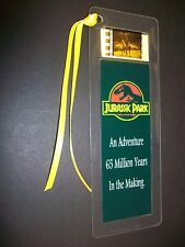 JURASSIC PARK Movie Film Cell Bookmark Cinema Theater Collectible Memorabilia