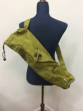 "Tkuu Yoga Mat Storage Case Bag Green Cinch Shoulder Strap 24"" X 6"""