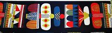 Marimekko, Toteemi cotton fabric by Sanna Annukka 2013, 145x215cm, Full repeat