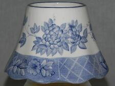 Vintage 1980's Home Interiors 11836 Blue Toile Country Cottage Candle Shade