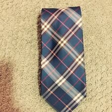 Burberry London Blue Check & Plaid  Silk Men Neck Tie  $199 NWT New !!! 50% OFF