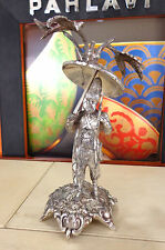 Rare Antique Silver Plated Figure Robinson Crusoe Centerpiece Walker & Hall Tree