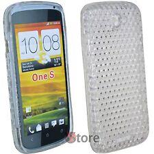 Cover Custodia Per HTC One S Silicone  TPU Trasparente + Pellicola Salva Schermo
