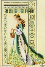 Lavender & Lace Counted Cross Stitch Chart Pattern ~ CELTIC SUMMER Sale #56