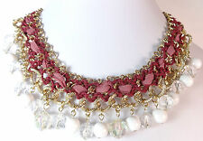 LADIES ELEGANT CHUNKY MULTI LAYER NECKLACE STUNNING UNIQUE (ST57)