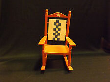 Hand Painted Miniature Rocking Chair - LOOK!