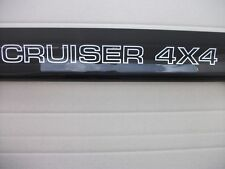 NEW BLACK BONNET PROTECTOR  WITH CRUISER 4X4 LOGO suit  LANDCRUISER 80 SERIES