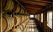 Framed Print - Whiskey Barrels in a Scottish Highland Distillery (Picture Poster