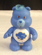 "Vintage 1983 AGC Care Bears ~ Cloud GRUMPY BEAR  poseable  3.5""  PVC FIGURE"