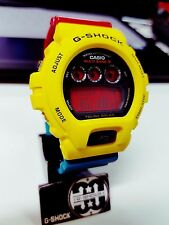 G-Shock Vintage Solar Atomic Radio M6 Red Screen Rasta Reggae Hip-hop Bobmarley