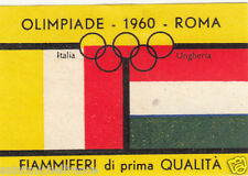ITALY ITALIA HUNGARY HONGRIE Olympic Games 1960 ROMA FLAG MATCHBOX LABEL 60s