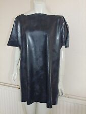 "Rubber Shirt Top Latex Silicone Black Latex Mix Roleplay Fantasy Tee  Large 38""+"