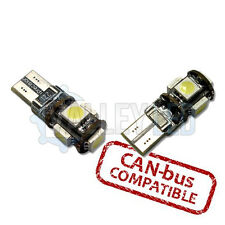 Astra H 05-10 VXR Bright Canbus LED Side Light 5 SMD 501 T10 W5W Bulbs - White