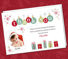 25 x Personalised Photo Thank You Note Cards Christmas Presents Gifts Children's