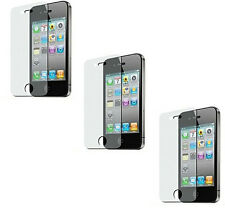 3 Premium Anti Glare Film Pre Cut Screen Protector for Apple iPhone 4 4G 4GS