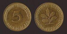 GERMANIA GERMANY 5 PFENNIG 1950 F
