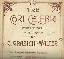 Coro dei Lombardi di Giuseppe Verdi Spartito per Canto e Pianoforte 1913