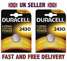*Cheapest* 2 X Duracell CR2430 3V Lithium Button Battery Coin Cell DL2430 FAST