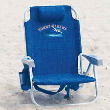 BLUE TOMMY BAHAMA BACKPACK COOLER BEACH CHAIR NEW.......