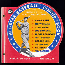1950 All-Star Baseball Pin-Ups Book with Dimaggio,Ted Williams & Jackie Robinson