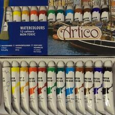 WATERCOLOUR ARTISTS PAINTS SET BRUSH LINE PAINTING AIR PAINTER WATER COLORS KIT