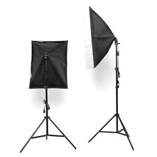 Kit d'éclairage Softbox 2 x 135W Eclairage Support Trépied Studio Réflecteur