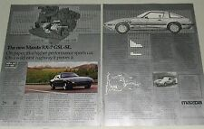 1984 Mazda RX-7 2-page advertisement, MAZDA RX 7 GSL-SE, cutaway drawing, specs
