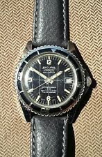SICURA by BREITLING Black dial 400  Submarine 23j Oversized 40mm divers Watch