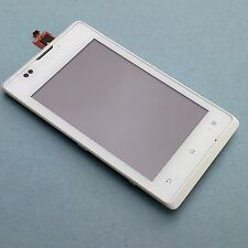 100% Genuine Sony Xperia E front+digitizer touch screen glass+LCD display C1504
