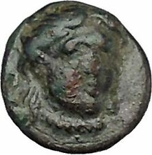 LARISSA PHRIKONIS in AEOLIS 400BC River-god Apollo Ancient Greek Coin i50528