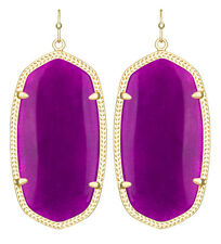 Kendra Scott Danielle Earrings in Purple Jade & 14k Gold Plated