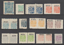 Argentina, Cordoba, Forbin 28//299. 1898-1913 Documentary Fiscals, 12 diff