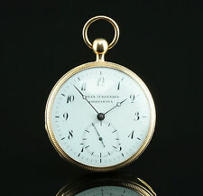 URBAN Jürgensen 1/4 repetition 1831 OTTIMO 18k Gold Orologio da tasca Pocket Watch
