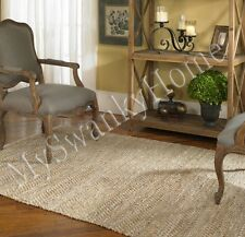 5 x 8 Hand Woven BEIGE Tan Rescued LEATHER Area Rug NEIMAN MARCUS Sustainable