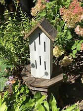 BUTTERFLY HOUSE WHITE RUSTIC WEATHERED WOOD USA HANDMADE