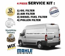 FOR PEUGEOT BOXER 2.2 HDI TD 8/2006- NEW OIL AIR FUEL POLLEN FILTER SERVICE KIT