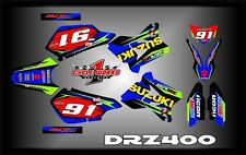 Suzuki DRZ400 DRZ 400  SEMI CUSTOM GRAPHICS KIT AJ4